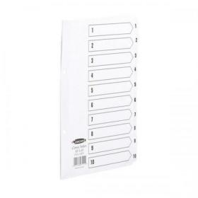 Concord Classic Index 1-10 Mylar-reinforced Punched 2 Holes 150gsm A5 White Ref 07101/CS71
