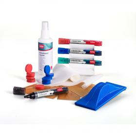 Nobo Whiteboard User Kit 4 Mrkrs/Eraser/Refills/Absorbent Cloths/125ml Cleaning Spray/Magnets Ref 1901430