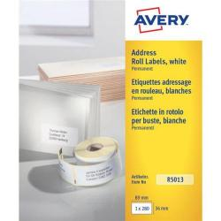 Cheap Stationery Supply of Avery (89 x 36mm) Personal Label Printer Roll Labels Roll of 280 R5013 Office Statationery