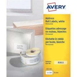 Cheap Stationery Supply of Avery (101 x 54mm) Personal Label Printer Roll Labels Roll of 280 R5015 Office Statationery