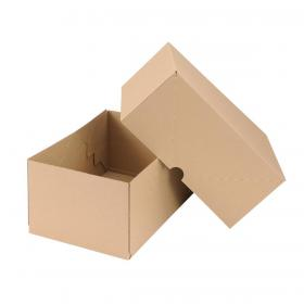 Self Locking Box Carton and Lid A4 305x215x150mm Brown Pack of 10