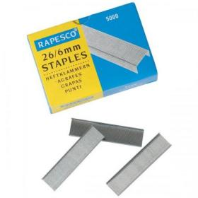 Rapesco Staples 26/6mm Ref S11662Z3 Pack of 5000