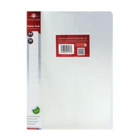 Concord Display Book Polypropylene 20 Pockets A4 Clear Ref 7137-PFL Pack of 12