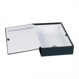 Concord Classic Box File 75mm Spine Foolscap Black Ref C1282 Pack of 5