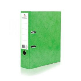 Concord Contrast Lever Arch File Laminated Capacity 70mm A4 Lime Ref 214702 Pack of 10