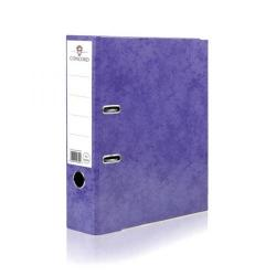 Cheap Stationery Supply of Concord Contrast Lever Arch File Laminated Capacity 70mm A4 Purple 214705 Pack of 10 Office Statationery