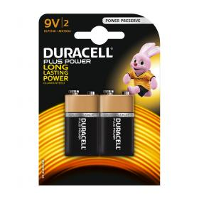 Duracell Plus Power MN1604 Battery Alkaline 9V Ref 81275459 Pack of 2