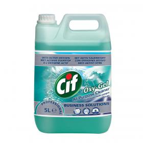 Cif Professional Oxygel All Purpose Cleaner Professional Active Oxygen Ocean 5 Litre Ref 1014235