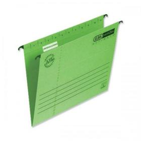 Elba Verticflex Ultimate Suspension File 15mm V-base 240gsm Foolscap Green Ref 100331170 Pack of 25