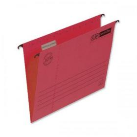 Elba Verticflex Ultimate Suspension File Manilla 15mm V-base 240gsm Foolscap Red Ref 100331172 Pack of 25