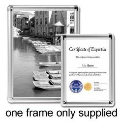 Cheap Stationery Supply of 5 Star Facilities Clip Display Frame Aluminium with Fixings Front-loading A4 210x13x297mm Silver Office Statationery