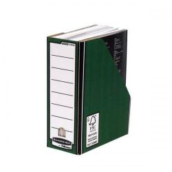 Cheap Stationery Supply of Bankers Box by Fellowes Premium (A4+) Magazine File Fastfold (Green/White) - 1 x Pack of 10 Magazine Files 0723005 Office Statationery