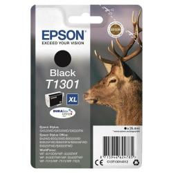 Cheap Stationery Supply of Epson T1301 Inkjet Cartridge Stag XL Page Life 945pp 25.4ml Black C13T13014012 Office Statationery