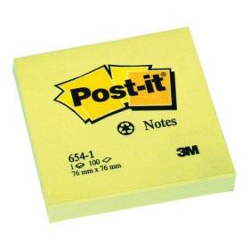 Post-it Recycled Notes Pad of 100 76x76mm Yellow Ref 654-1Y Pack of 12