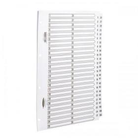 Concord Classic Index 1-50 Mylar-reinforced Punched 4 Holes 150gsm A4 White Ref 05501/CS55