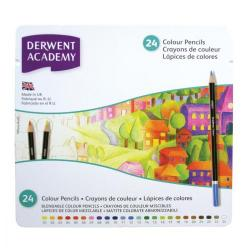 Cheap Stationery Supply of Derwent Academy Colouring Pencils High-quality Pigments Tin Assorted 2301938 Pack of 24 Office Statationery
