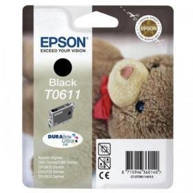 Epson T0611 Inkjet Cartridge Teddybear Page Life 250pp 8ml Black Ref C13T06114010