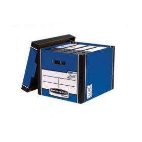 Bankers Box Premium Storage Box (Presto) Tall Blue FSC Ref 7260602 Pack of 10