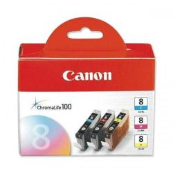 Cheap Stationery Supply of Canon CLI-8 IJ Cart Page Life790pp Cyan/Page Life 565pp Mag/Page Life 280ppYellow 13ml CLI-8Pack of 3 Office Statationery