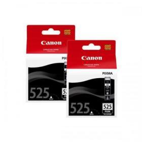 Canon PGI-525PGBK Inkjet Cartridges Page Life 341pp 19ml Black Ref 4529B006/10 Pack of 2