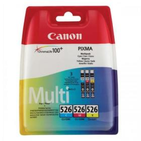 Canon CLI-526 Inkjet Cart PageLife 207pp Cyan/204pp Magenta/202pp Yellow Ref 4541B009 Pack of 3