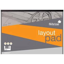 Cheap Stationery Supply of Silvine Layout Pad 50gsm Acid-free Paper 80 Sheets A3 White A3LP Office Statationery