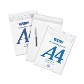 Vestry Accountants Pad 8 Cash Column 80 Leaf A4 Ref CV2064