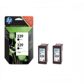 Hewlett Packard HP No.339 Inkjet Cartridge Page Life 860pp 21ml Black Ref C9504EE Pack of 2