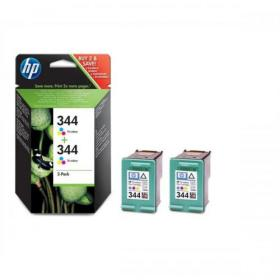 Hewlett Packard HP No.344 Inkjet Cartridge Page Life 560pp 14ml Tri-Colour Ref C9505EE Pack of 2