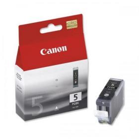 Canon PGI-5BK Inkjet Cartridge Page Life 505pp 26ml Black Ref 0628B025 Pack of 2