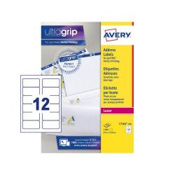 Cheap Stationery Supply of Avery Addressing Labels Laser Jam-free 12 per Sheet 63.5x72mm White L7164-100 1200 Labels Office Statationery