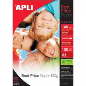 Apli Best Price Photo Paper Glossy 140gsm A4 Ref 11804 100 Sheets