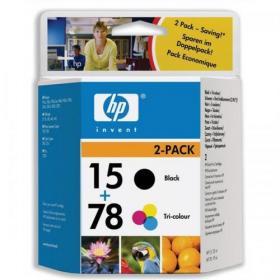 Hewlett Packard HP Bundle: Combo Back 15 (25ml)  Black Ink Cartridge + 78 (19ml) TriColour Ink Cartridge SA310AE