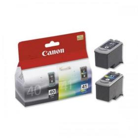 Canon PG-40/CL-41 Inkjet Cartridge Page Life329pp Black/Page Life 312pp Tri-Colour Ref 0615B036 Pack of 2