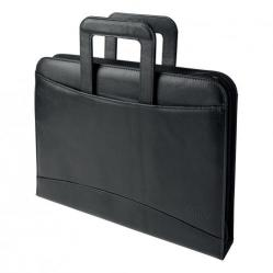 Cheap Stationery Supply of 5 Star Office Zipped Conference Ring Binder with Handles Capacity 60mm Leather Look A4 Black Office Statationery