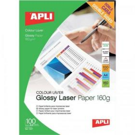 Apli Laser Paper Glossy Double-sided 160gsm A4 Ref 11817 100 Sheets