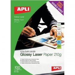 Cheap Stationery Supply of Apli Laser Paper Glossy Double-sided 210gsm A4 11833 100 Sheets Office Statationery