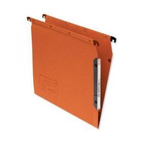 Elba Ultimate AZV Linking Lateral File Manilla 15mm V-base 240gsm A4 Orange Ref 100330473 Pack of 25