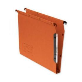 Elba Ultimate AZV Linking Lateral File Manilla 30mm Wide-base 240gsm A4 Orange Ref 100330475 Pack of 25