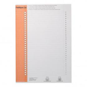 Elba Polypro Card Inserts for Lateral Susp File Tabs 10 Sheets of 31 Tabs White Ref 100330212 Pack of 310