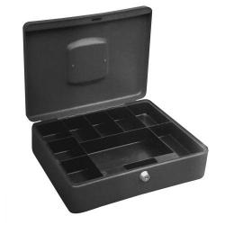 Cheap Stationery Supply of 5 Star Facilities High Capacity Cash Box 8 Part Coin Tray 1 Part Note Section W300xD230xH90mm Titanium Office Statationery