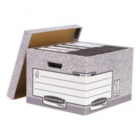 Bankers Box by Fellowes System Large Storage Box FSC Ref 01810-FF Pack of 10