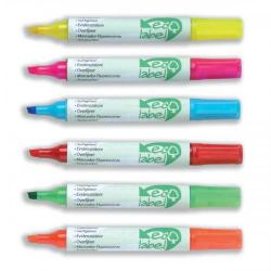 Cheap Stationery Supply of Ecolabel Highlighter with Water-based Ink Chisel Tip Assorted (Wallet 6) 268782 Office Statationery