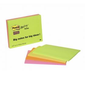 Post-it Super Sticky Meeting Notes Pads of 45 Sheets 149x98.4mm Bright Colours Ref 6445SSP Pack of 4