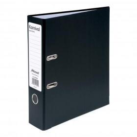 Rexel Karnival Lever Arch File Paper over Board Slotted 70mm A4 Black Ref 3200005 Pack of 10