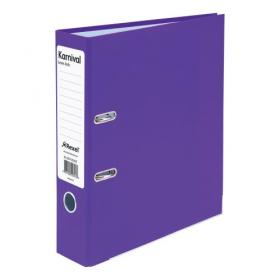 Rexel Karnival Lever Arch File Paper over Board Slotted 70mm A4 Violet Ref 20747EAST Pack of 10