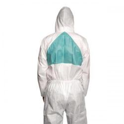 Cheap Stationery Supply of 3M 4520L (Large) Basic Protective Lightweight Breathable Anti-Asbestos Disposable Coverall (White/Turquoise) 4520L Office Statationery