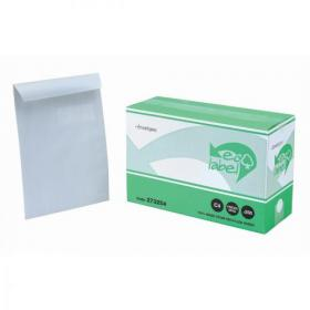 5 Star Eco Envelopes Recycled Pocket Self Seal Window 90gsm C4 324x229mm White Pack of 250