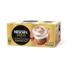 Nescafe Gold Cappuccino Instant Coffee Sachets One Cup Ref 12314883 Pack of 50