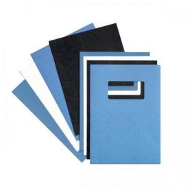 GBC Binding Covers Leatherboard Window 250gsm A4 Blue Ref 46735E Pack of 25x2